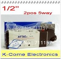 Inner Guide Type 1/2'' Port Size 2/5 Way AirTAC Air Solenoid Valves Pneumatic Solenoid Valve 4v410-15 12v 24v 110v 220v