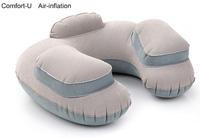 Free Shipping 3 in 1 Travel Set U-Comfort Air-inflatable Cushion Pillow+Inflator+ Ear Plug+Eye Shade+Bag Convenient Trip
