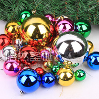 Free shipping Christmas tree decoration 44 christmas ball plastic ball christmas ball Christmas 350g decoration  in stock