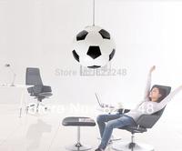 Innovative items power 110v 220v E27 e27*1 lamp holder iron glass football chandeliers lamps for children room indoor lighting