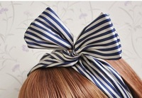2014 New Fashion Hair Accessories Girl Bowknot Headbands For Women Fascinator Accessories Chiffion Cotton Headband Wholesale