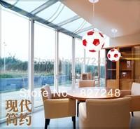 Novelty product items design power110v 220v E27 e27*1 lamp holder iron glass football pendant lights for kids room home lighting