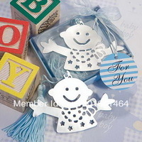 Lovely Design Baby Favors Bookmarks Baby Boy Blue Bookmarks Kids Birthday Gift Bookmarks+10pcs/lot+FREE SHIPPING(RWF-0005U)
