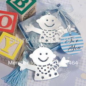 Lovely Design Baby Favors Bookmarks Baby Boy Blue Bookmarks Kids Birthday Gift Bookmarks+10pcs/lot+FREE SHIPPING(RWF-0005U)(China (Mainland))