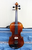 Violin high quality solid wood handmade , natural tiger