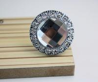 modern fashion silver cystal high grade zinc alloy knob furniture handle for high grade closet and cuboard