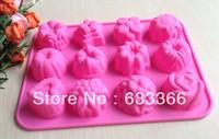 Free shipping 1PCS Flower Fondant Cake pan Candy Soap Silicone Mold Baking Pan Cake Decoration B018