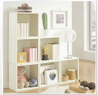 Embossed white storage box bookshelf simple plaid