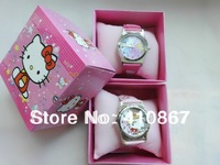 NEW Cartoon Hello Kitty Cartoon Watches Wristwatch box Child Christmas Gift Boys Girls 6pcs/lot