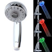 LED Shower Head Sprinkler Temperature Sensor RGB Color Excellent Corrosion Resistance,H8537,free shipping