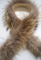 Raccoon fur real fur Hat strip decoration fur vigoreux fur collar fur cap brim shoes cover cuff