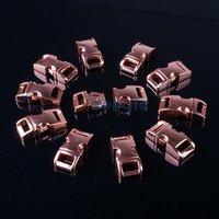 """10 Packs / Lot 3/8"""" (10mm) Metal Side Release Buckle Shackle for Paracord Bracelet Bronze"""