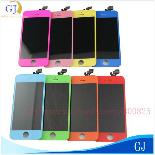 for iPhone 5/5G colorful LCD ,color LCD touch screen ,Free Shipping(China (Mainland))
