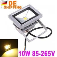 DE Stock To DE Hot Sale 10W LED Flood Light Waterproof Floodlight Landscape Lighting Lamp 85-265V Warm White DHL Free Shipping