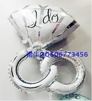 Anagram balloon married wedding decoration aluminum balloon ring helium balloon  Free Shipping