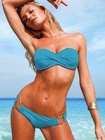 BS3029 bikini victoria romper swimsuits two piece bathing suit women modest swimsuits women swim suits bandeau swimsuit swimwear
