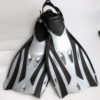 Swimming Trainning Short Fins,Adult Diving Fins adjustable sliver gray free shipping