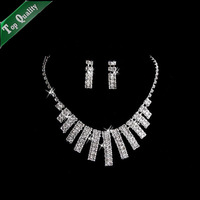 Wholesale Necklace and earrings sets Elegant Rhinestone Jewelry Set for Wedding Bride Party