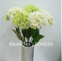 Free shipping 10 pcs/lot single silk hydrangeas flower, artificial flower, home decoration flower, wedding flowers,silk flower