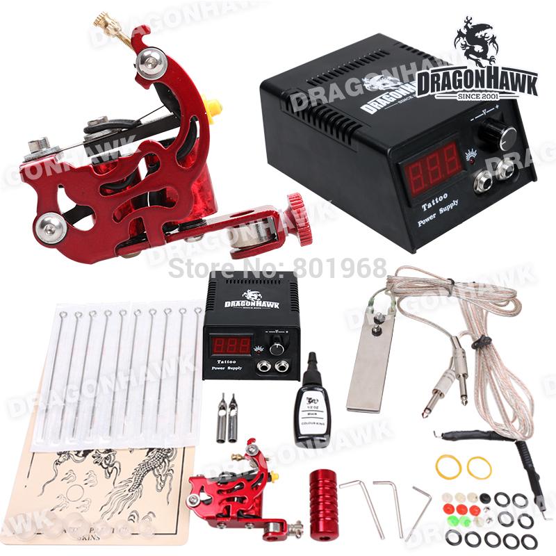 Tattoo Starter Kit Machine Guns color inks Supply Set Equipment D1013(China (Mainland))