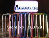 Hot sale Clear Colors Plastic Frame Bumper Cover for I9500 S4 Accessories 50pcs/lot free shipping