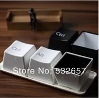 Fashion Creative Design keyboard Key CUP black/white Coffee mug cup minimalist style for Gifts free shipping (3pcs/lot/set)