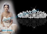 Bridal Wedding Party,Bridal Wedding Crystal Rhinestone Crown,Princess Crowns,Bride Tiara,Customized Tiaras+Free Shipping