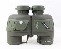 10X50 Binoculars Telescope,Waterproof & Night Vision Navy BINOCULARS With RANGEFINDER and Compass RETICLE illuminant