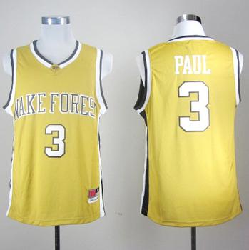 ncaa basketball jersey,Wake Forest Demon Deacons #3 PAUL.