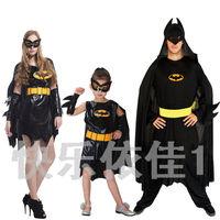 Halloween cosplay costume for children man and women batman full set with mask family costume Fantasia Infantil