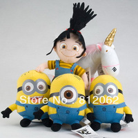 "Free Shipping Despicable ME Movie Plush Toy 7 inch "" 18cm Minion Jorge Stewart Dave NWT with tags"