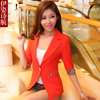 2013 spring and autumn outerwear women's slim thin blazer short-sleeve suit  Free shipping