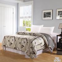 Queen bedding 100% cotton duvet cover slanting stripe 100% single double cotton print quilt separate bedding  4pc