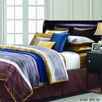 Queen bedding 100% cotton long staple cotton piece set satin bedding print 4  4pc