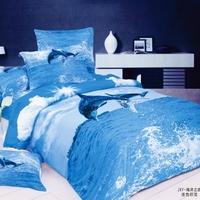 Queen bedding Textile 100% cotton cartoon piece set ab activated 100% 4 print cotton marine  4pc