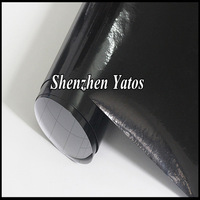Reflective Car Sticker Black Color Glossy Vinyl Foile Bubbles Free