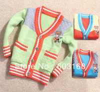 2013 New Arrival Bear Baby Sweater Kid Sweater Boy's/Girl's Sweater Children Wear Sweater Free Shipping {iso-13-8-10-A1}