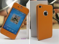 PU Material Mobile body protector,Compatible for Iphone 4/4S, multicolors, With package,Free shipping