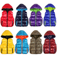 Reversible Westphal child with a hood down vest male female child down vest 0242