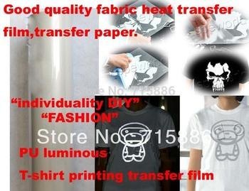 Good quality  T-shirt film PU reflect light T-shirt printing transfer film,fabric transfer paper,individuality DIY transfer film