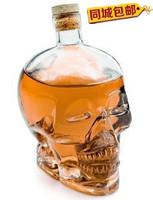 The skeleton bottleCreativeWith personality cocktail cup skull wine bottle skull glass bottle skull bottle shapedCupFREEshipping