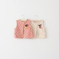 Female child autumn bow wool liner child vest