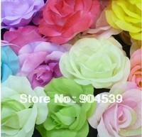 Free shipping 100 pcs/lot rose head wedding flowers, artificial flower, silk hydrangeas, party supplies