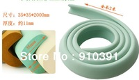 """Free shipping """"L""""shape 2M/pc desk edge guard strip sticker protect strip anti-collision bar as children baby safety products."""