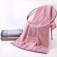 100% Pure Cotton Towel Auspicious Folk Customs Large Bath Towel Three Color Optional 480g