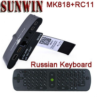 MK818 Android 4.2 TV Box Media Player Tv stick Mini PC  Bluetooth 5MP Camera Mic Headphone With RC11 Russian Keyboard Air Mouse