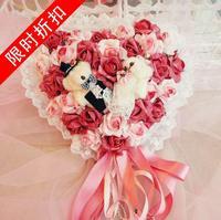 Free shipping Lovers red rose garland derlook wedding new homes muons hangings door trim