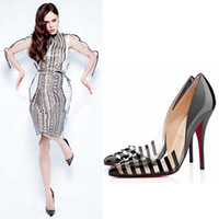 New arrival 2013 fashion autumn sexy star women's shoes shallow mouth transparent stripe pointed toe high heeled thin heels