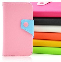 For Samsung S5670 wallet leather case with magnetic buttons, printing cases Samsung S5670 handbag with strap, free shipping
