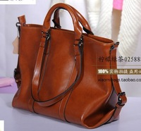 2013 women's handbag Free shipping 100% Real Natural genuine leather Ol Work Bag Elegant Vintage Women's Handbag Messenger Bags